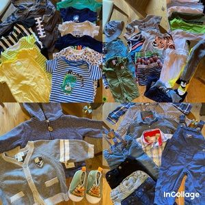 51pc Baby boy bundle 6-9 onesie outfit jeans shoes